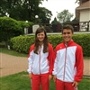Austrians looking good in their national color tracksuits
