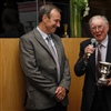 IC Dinner - Frank speaking with Paul White and trophy